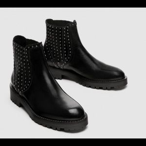 Zara boots cow leather new